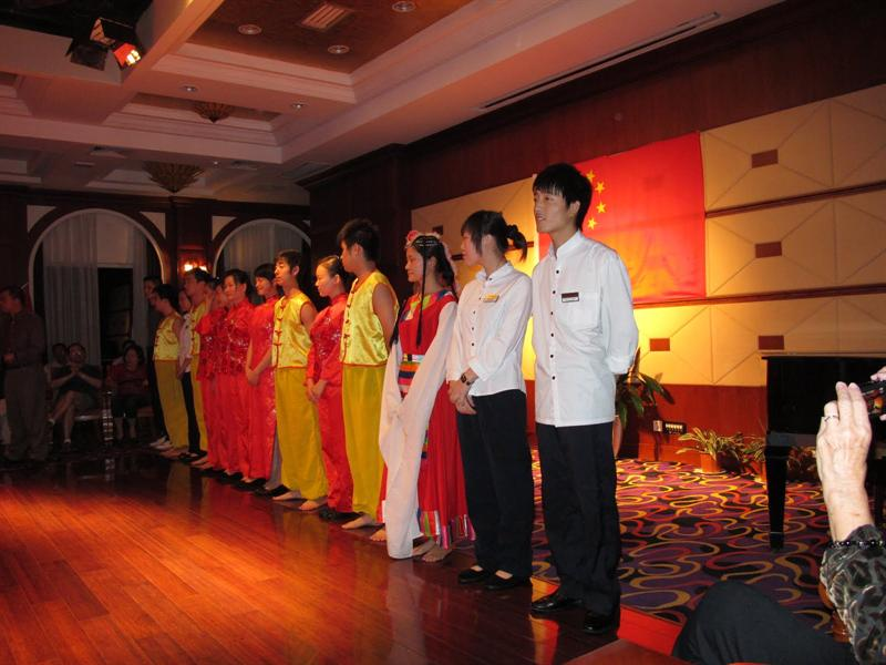 """Fashion Show"" performers (all are the ship's service staffs)"