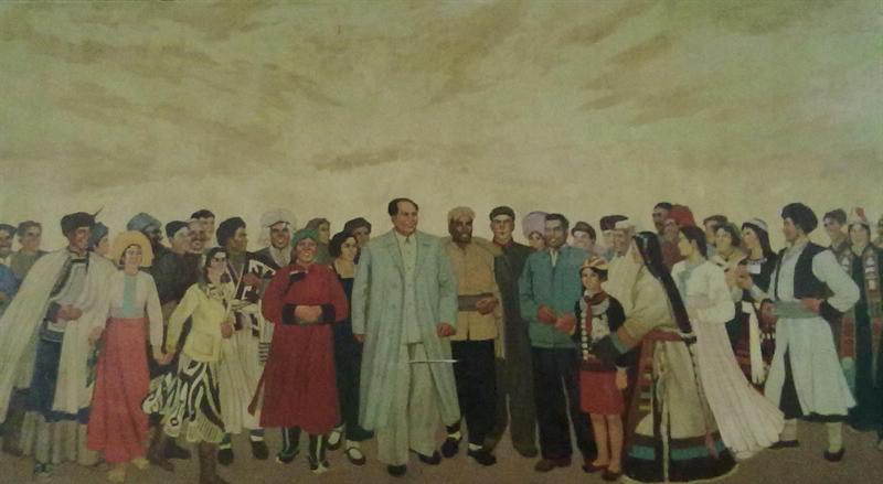 Frise à la mémoire de Mao et des minorités