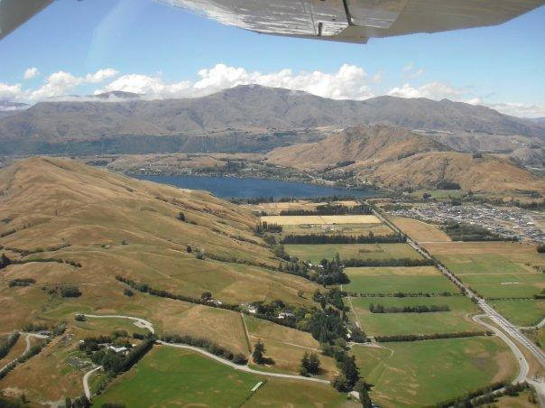 The views of Queenstown from plane