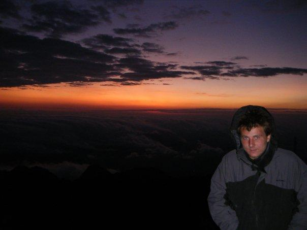 sunrise at 3500 metres