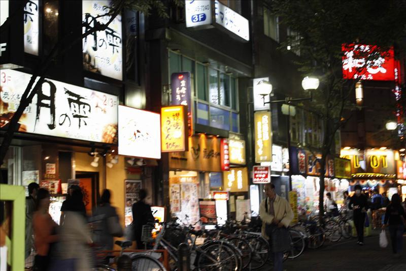 東京夜景  新宿西口