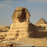 PYRAMIDS AND SPHINX AT GIZA