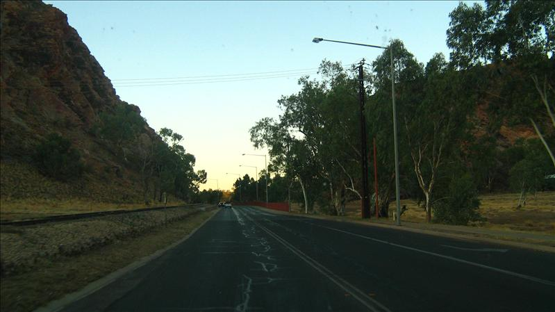 Drive into Alice Springs