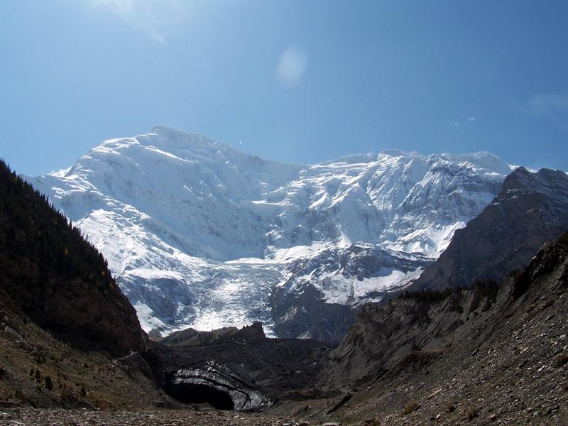 A glacier in south Xinjiang