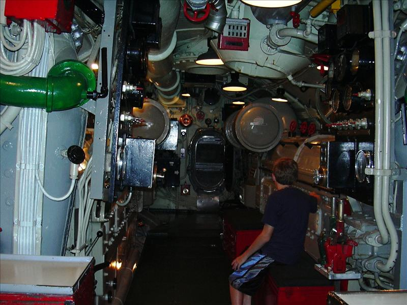 below decks on a submarine WWII