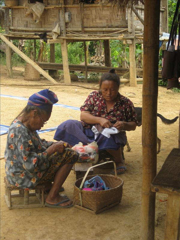 Women making crafts