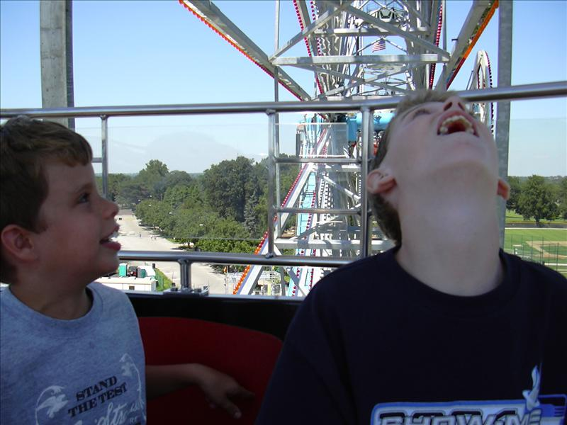 fun we all remember on a huge ferris wheel