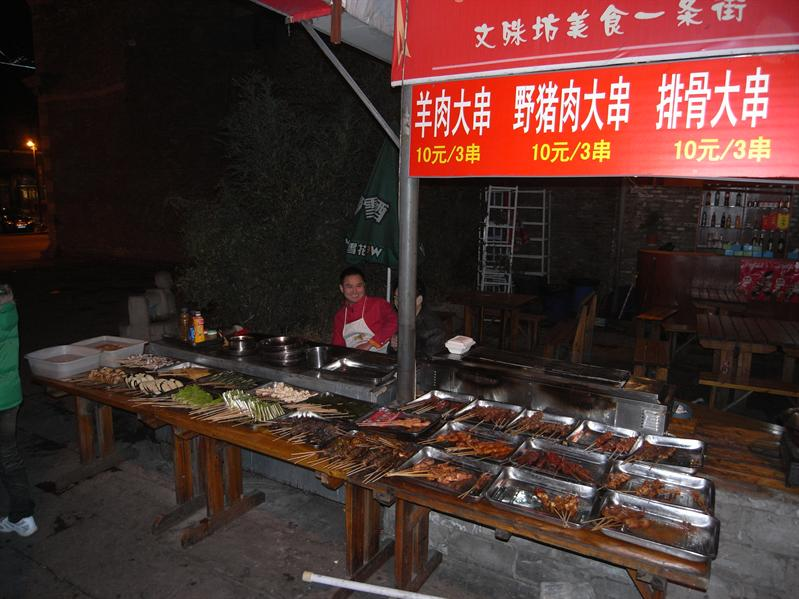 food stall at wenshu fang old quarter, chengdu