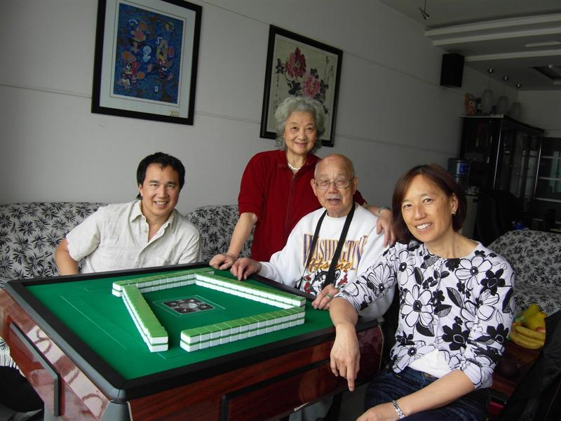 Mahjong at Lily's place
