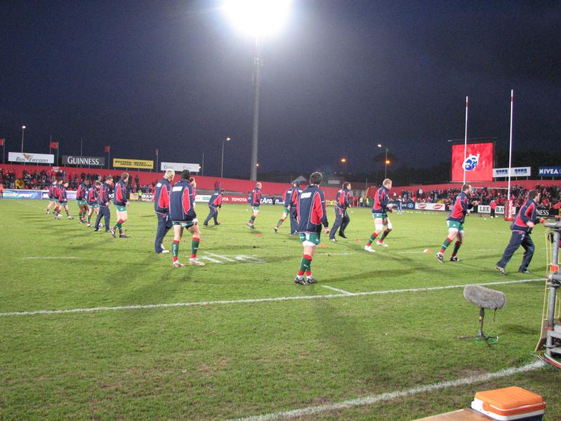 Warmups at Musgrave Park