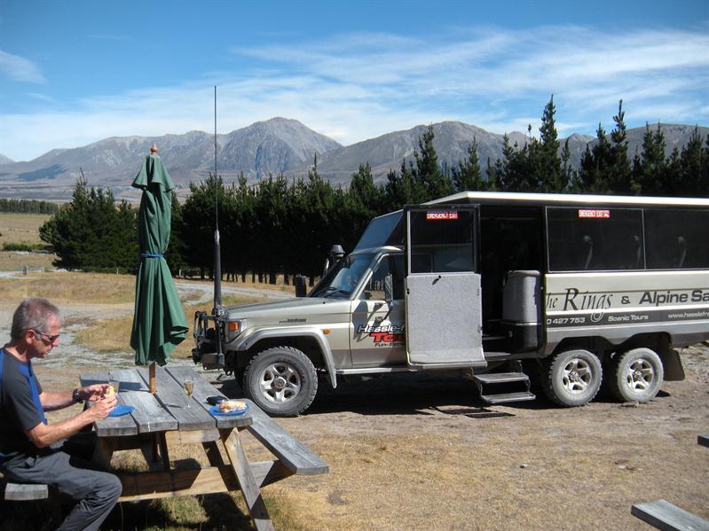Our champagne picnic site