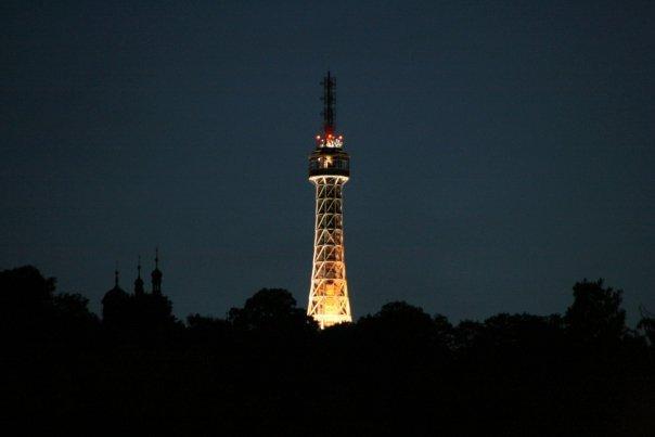 The Petřín hill @ night.