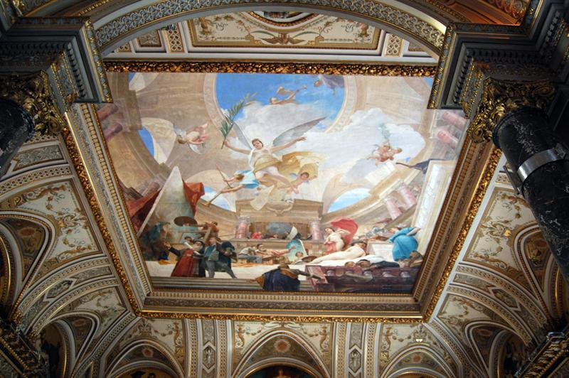 Cafe ceiling mural - National Museum - Vienna