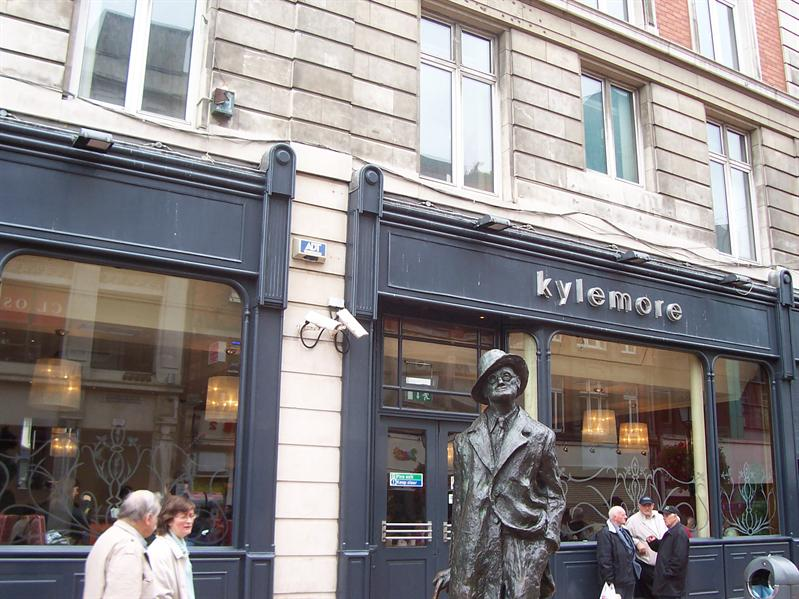 James Joyce on North Earl Street.