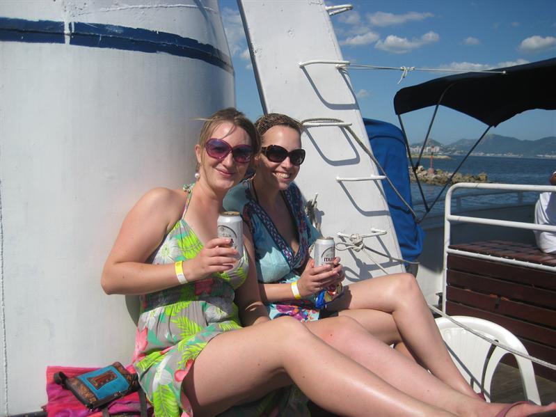 Abs and Adlene hit the high seas!
