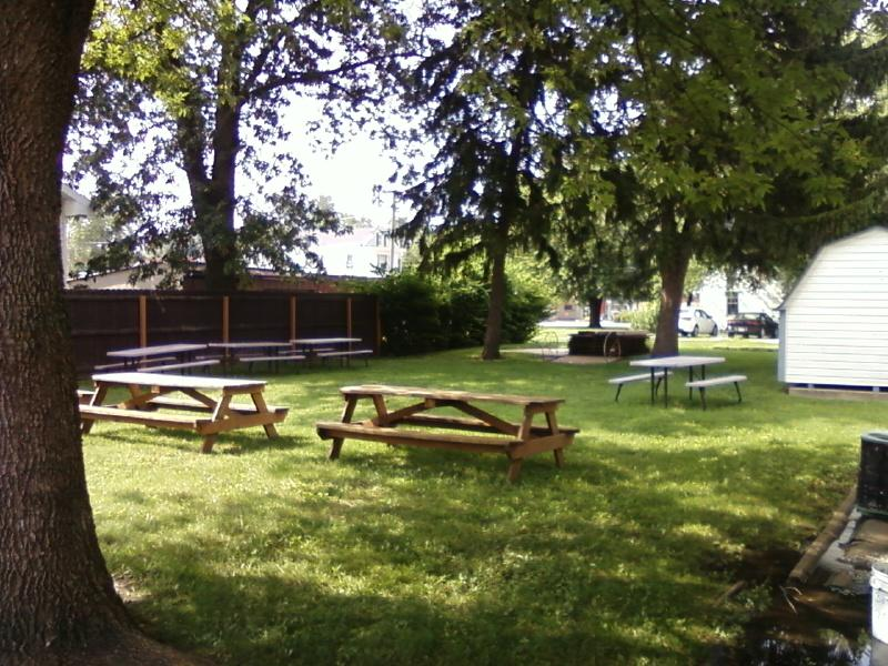 picnic tables for sale at Reinhardt's