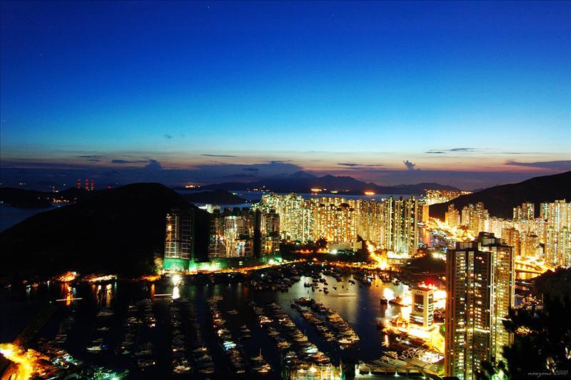 深灣遊艇會、鴨脷洲及香港仔夜暮