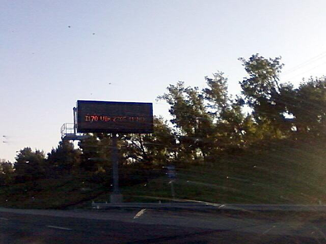 new to the interstates are information signs