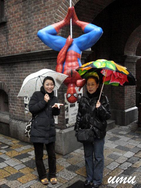 with The Spiderman