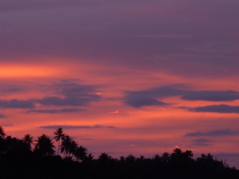 sunset in surin beach