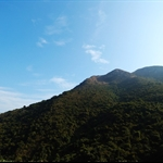 鶴藪道上望南山