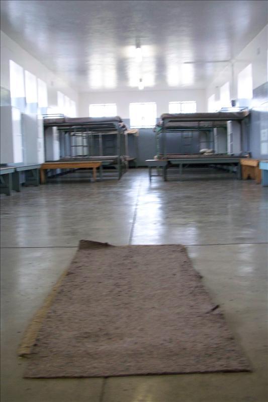 la tapis est un des anciens lit qu'avaient les prisonniers avant les lits superposés