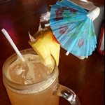 Umbrellas in our drinks, before lunch - Nice...
