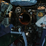 submarine torpedo tubes in a nearby submarine