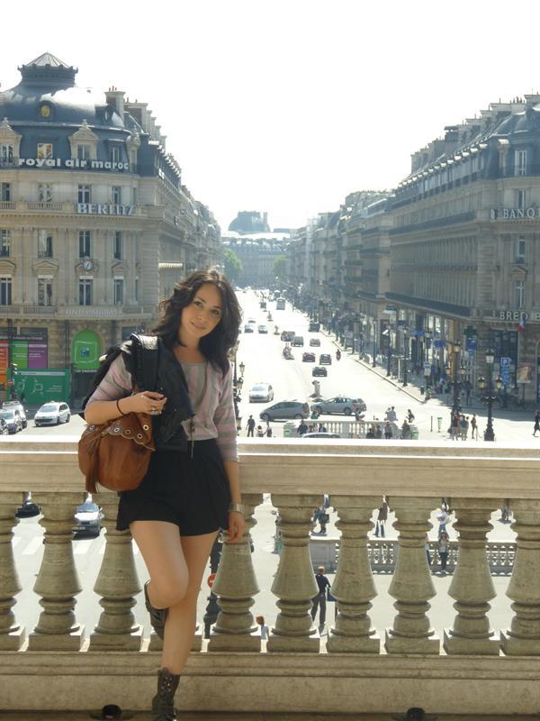 overlooking Paris on the balcony of the Opera Garnier
