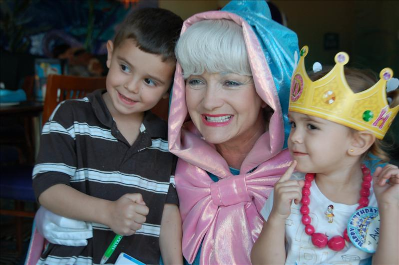 with their fairy godmother