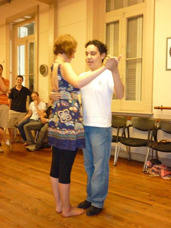 Dancing with the teacher...