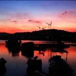 20070707 Sunset at Sam Mun Tsai 漁村向晚三門仔