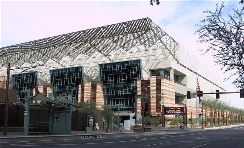 Phoenix Convention Center and Light Rail stop