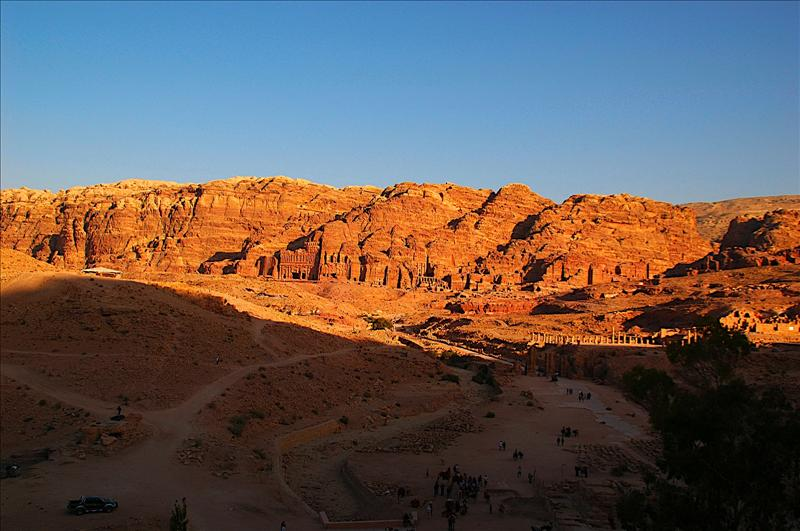The massive city of Petra