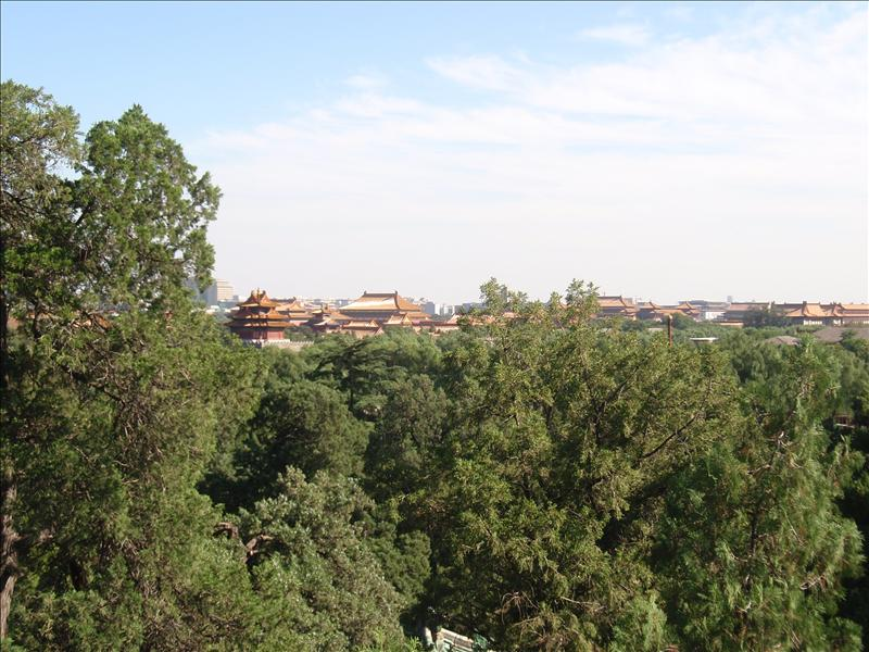 Forbidden City from a distance