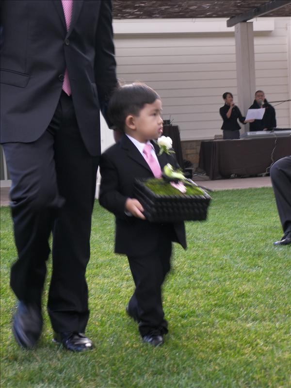 The ringbearer, and the groom's son.