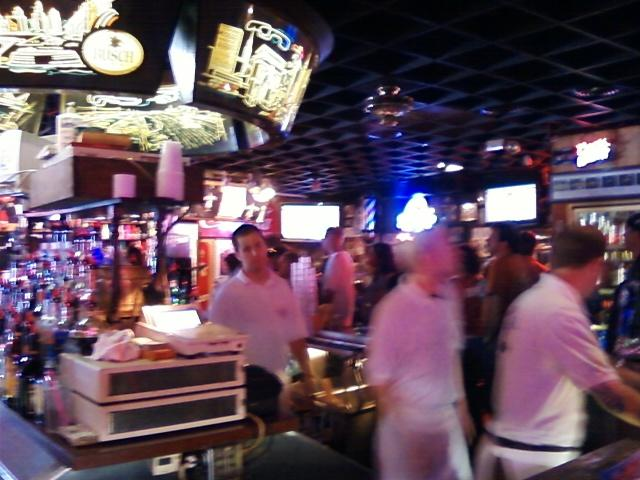 a view of the main bar as you walk in