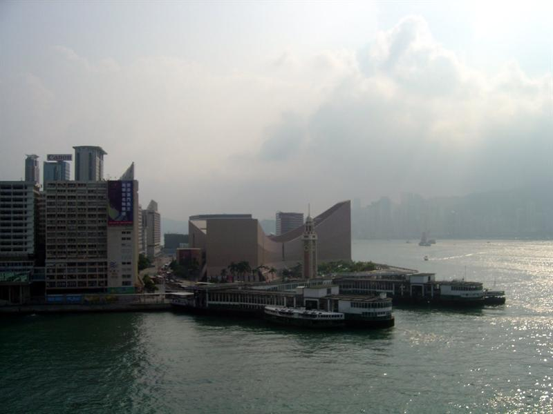 """Star Ferry"" to Hong Kong side--- old ""Clock Tower"" (preserved) is where the previous train station situated."
