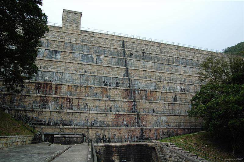 大潭上水塘水壩Tai Tam Upper Reservoir Dam. 1883 - 1888