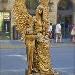 Golden angel at La Rambla
