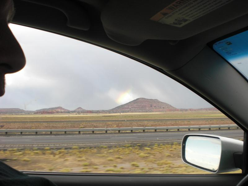 Ground clouds, rainbows, Jacob's ladders in NM