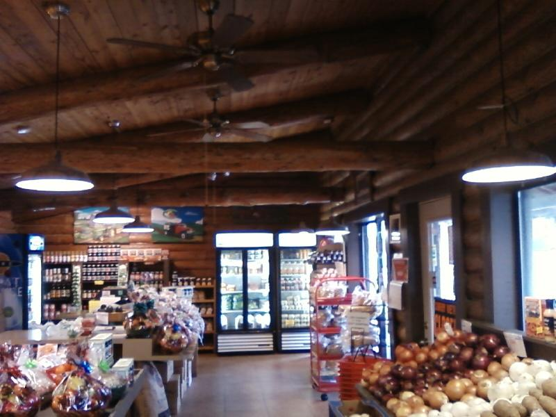 the Market, look at the timbered ceiling