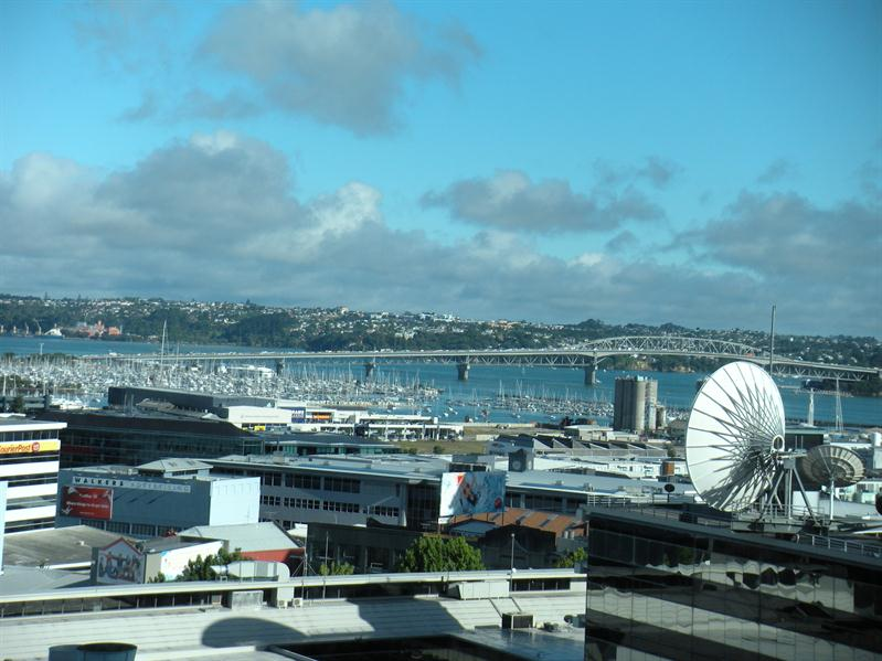 Our view from the Sky City Hotel Auckland