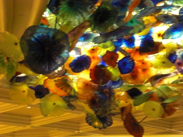 Glass flowers - roof of Bellagio lobby