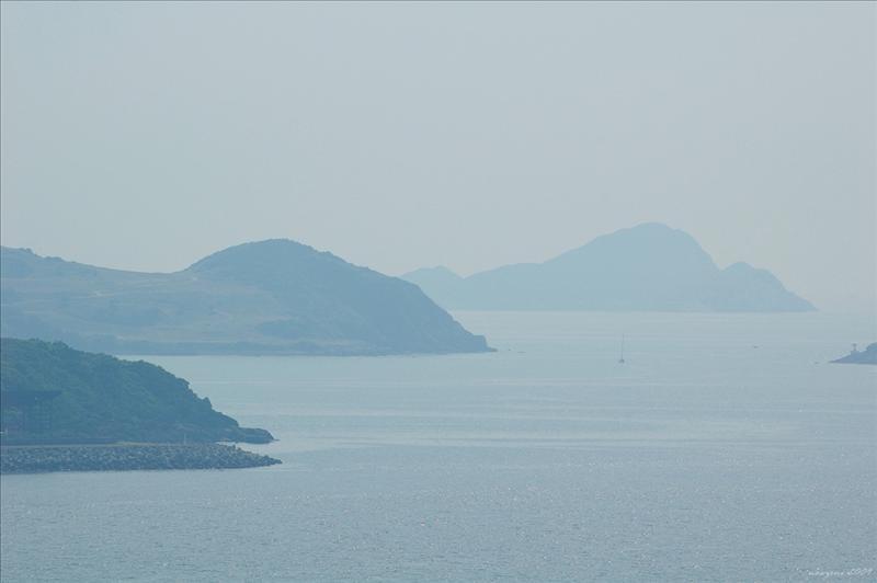 藍塘海峽及遠望對岸的佛堂洲