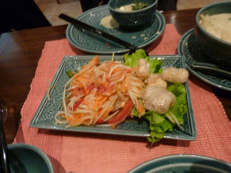 Papaya salad!! yay!! 9/18 (name:Lao Siam, Location:Paris)