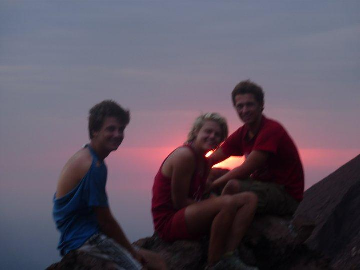 the group at sunset