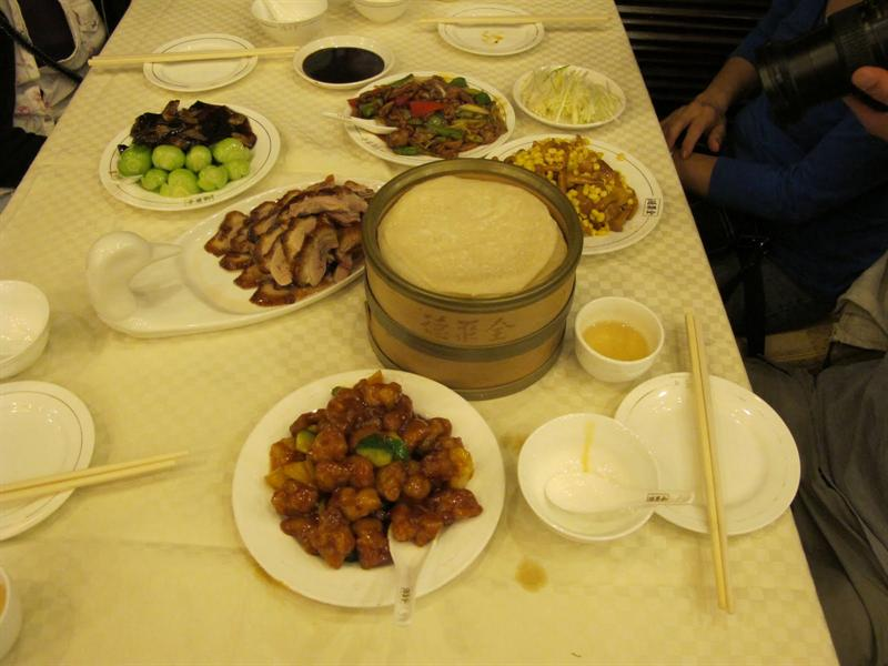 Roast Beijing duck dinner ( 全聚德烤鴨)