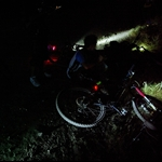 cycling until the night was totally dark