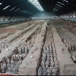 Museum of Terra-Cotta Warriors in Xian of China